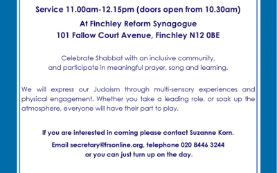 Shabbat b'Yachad Synagogue service for people with Disabilities