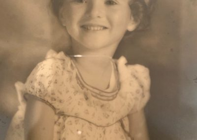 Judith aged 3 in Somerset, 1941