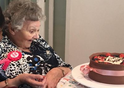 Judith with her 81st Birthday Cake, May 15 2019